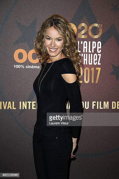 Actress Elodie Fontan attends the 'Alibicom' photocall during the 20th l'Alpe d'Huez International Comedy Film Festival on January 20 2017 in Alpe...