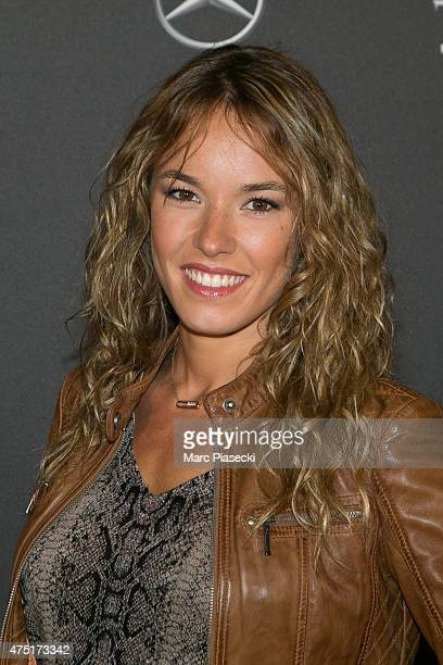 Actress Elodie Fontan attends the 'Jurassic World' Premiere at Cinema UGC Normandie on May 29 2015 in Paris France