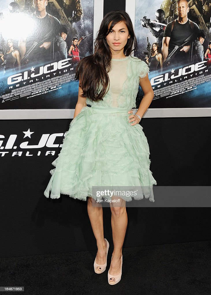 Actress Elodie Yung arrives at the Los Angeles Premiere 'G.I. Joe: Retaliation' at TCL Chinese Theatre on March 28, 2013 in Hollywood, California.