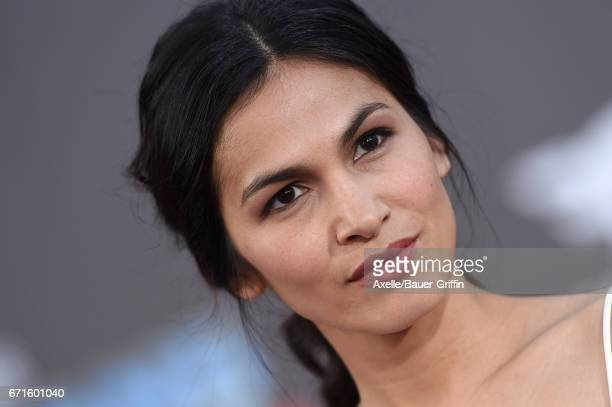 Actress Elodie Yung arrives at the premiere of Disney and Marvel's 'Guardians of the Galaxy Vol 2' at Dolby Theatre on April 19 2017 in Hollywood...