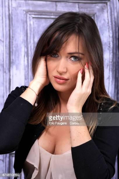 Actress Elsa Esnoult poses during a portrait session in Paris France on