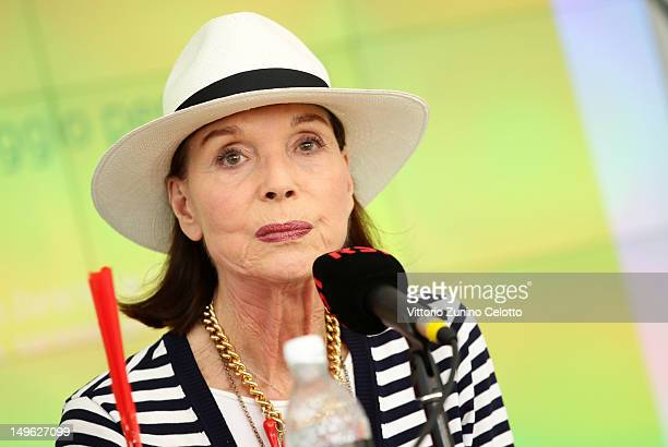Actress Elsa Martinelli attends a press conference during the 65th Locarno Film Festival on August 1 2012 in Locarno Switzerland