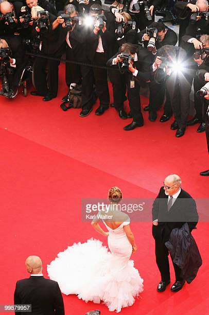 Actress Elsa Pataky and guest attend the 'You Will Meet A Tall Dark Stranger' Premiere at the Palais des Festivals during the 63rd Annual Cannes Film...