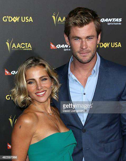 Actress Elsa Pataky and husband actor Chris Hemsworth attend the 2015 G'Day USA Gala featuring the AACTA International Awards presented by QANTAS at...
