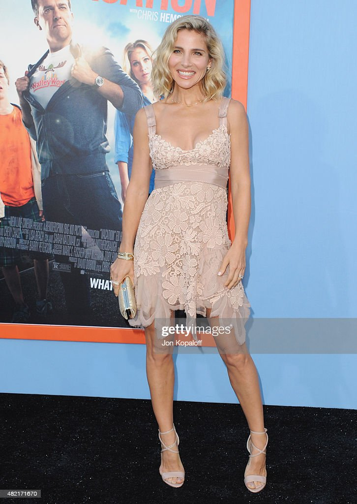 Actress <a gi-track='captionPersonalityLinkClicked' href=/galleries/search?phrase=Elsa+Pataky&family=editorial&specificpeople=242789 ng-click='$event.stopPropagation()'>Elsa Pataky</a> arrives at the Los Angeles Premiere 'Vacation' at Regency Village Theatre on July 27, 2015 in Westwood, California.