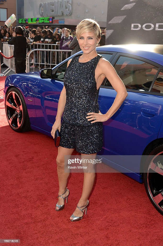 Actress Elsa Pataky arrives at the premiere of Universal Pictures' 'Fast Furious 6' at Gibson Amphitheatre on May 21 2013 in Universal City California
