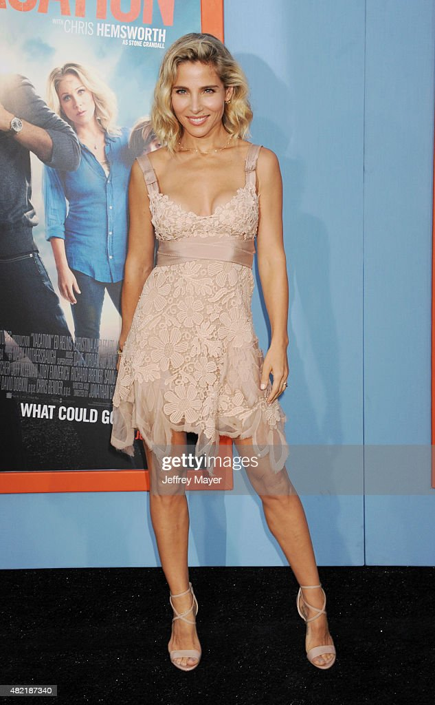 Actress <a gi-track='captionPersonalityLinkClicked' href=/galleries/search?phrase=Elsa+Pataky&family=editorial&specificpeople=242789 ng-click='$event.stopPropagation()'>Elsa Pataky</a> arrives at the Premiere Of Warner Bros. 'Vacation' at Regency Village Theatre on July 27, 2015 in Westwood, California.