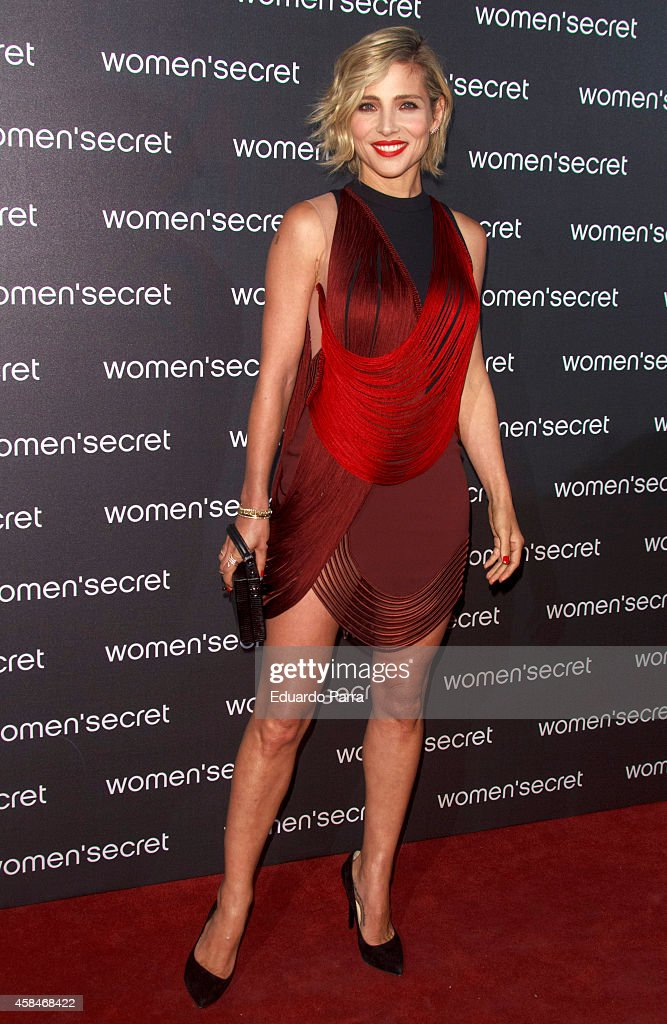 Actress <a gi-track='captionPersonalityLinkClicked' href=/galleries/search?phrase=Elsa+Pataky&family=editorial&specificpeople=242789 ng-click='$event.stopPropagation()'>Elsa Pataky</a> attends 'Dark Seduction' fashion film premiere photocall at Callao City Lights on November 5, 2014 in Madrid, Spain.