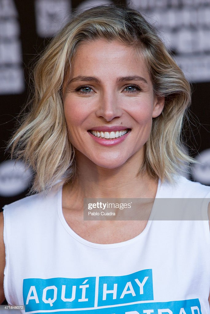 Actress <a gi-track='captionPersonalityLinkClicked' href=/galleries/search?phrase=Elsa+Pataky&family=editorial&specificpeople=242789 ng-click='$event.stopPropagation()'>Elsa Pataky</a> attends the Charity Day Tennis Tournament during the Mutua Madrilena Open at La Caja Magica on May 1, 2015 in Madrid, Spain.