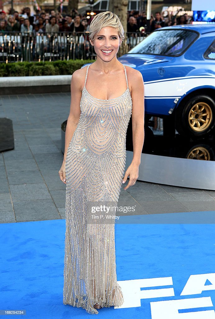 Actress Elsa Pataky attends the World Premiere of 'Fast & Furious 6' at Empire Leicester Square on May 7, 2013 in London, England.