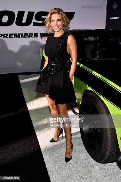 Actress Elsa Pataky attends Universal Pictures' 'Furious 7' premiere at TCL Chinese Theatre on April 1 2015 in Hollywood California