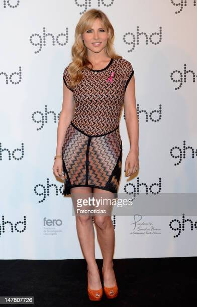 Actress Elsa Pataky presents 'ghd' Pink Cherry Blossom charity limited edition at the Casino de Madrid on July 3 2012 in Madrid Spain