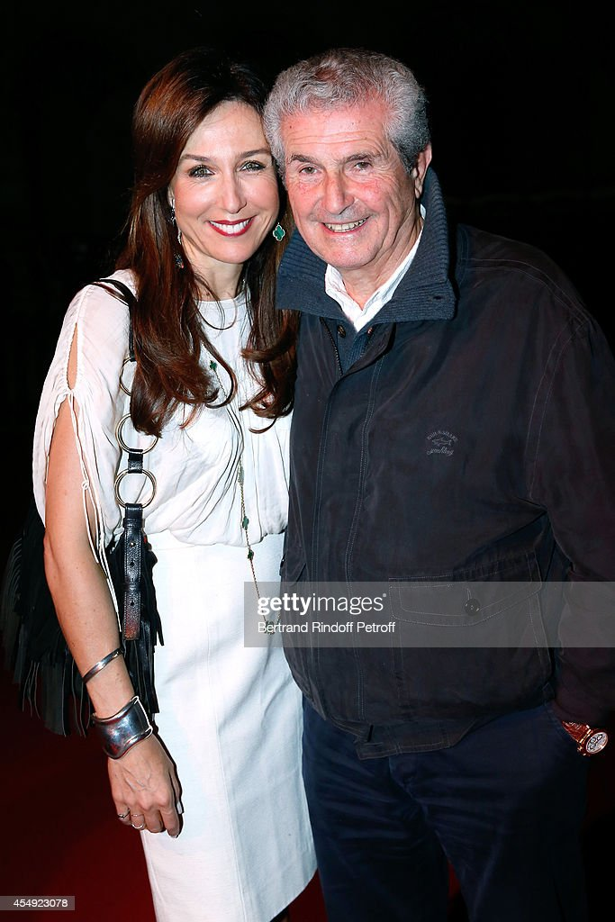 Actress Elsa Zylberstein and Director Claude Lelouch attend the 'Claude Lelouch en Musique ! Held at the Invalides in Paris on September 6, 2014 in Paris, France.