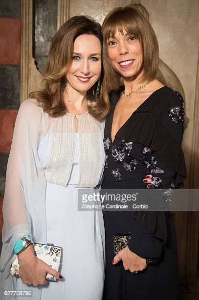 Actress Elsa Zylberstein and Mathilde Favier attend the Dior Dinner during the 16th Marrakech International Film Festival on December 4 2016 in...