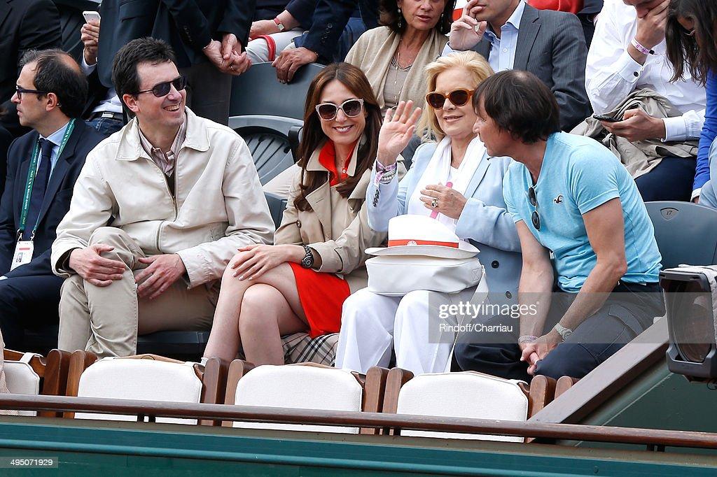 Actress Elsa Zylberstein and singer Sylvie Vartan attend the Roland Garros French Tennis Open 2014 - Day 8 on June 1, 2014 in Paris, France.