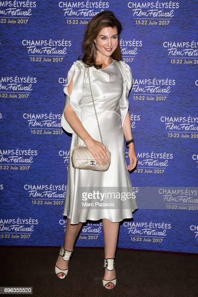 Actress Elsa Zylberstein attends the 6th 'ChampsElysees Film Festival' at Cinema Gaumont Marignan on June 15 2017 in Paris France