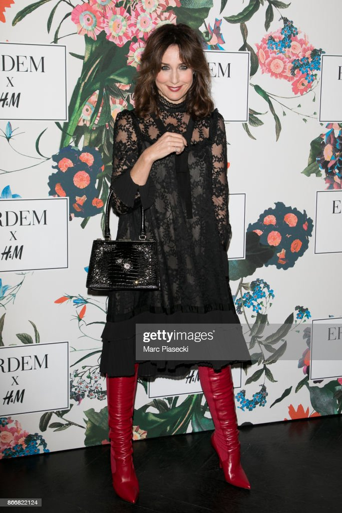 Actress Elsa Zylberstein attends the 'ERDEM X H&M' Paris Collection Launch at Hotel du Duc on October 26, 2017 in Paris, France.