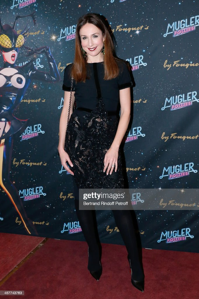 Actress Elsa Zylberstein attends the 'Mugler Follies' Paris new variety show premiere on December 18, 2013, held at 'Le Comedia' Theater in Paris, France.