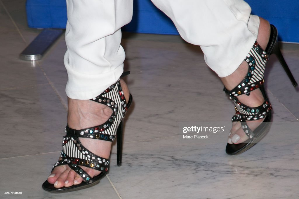 Actress Elsa Zylberstein (shoe detail) attends the 'Panorama des Nuits en or' gala dinner UNESCO on June 16, 2014 in Paris, France.