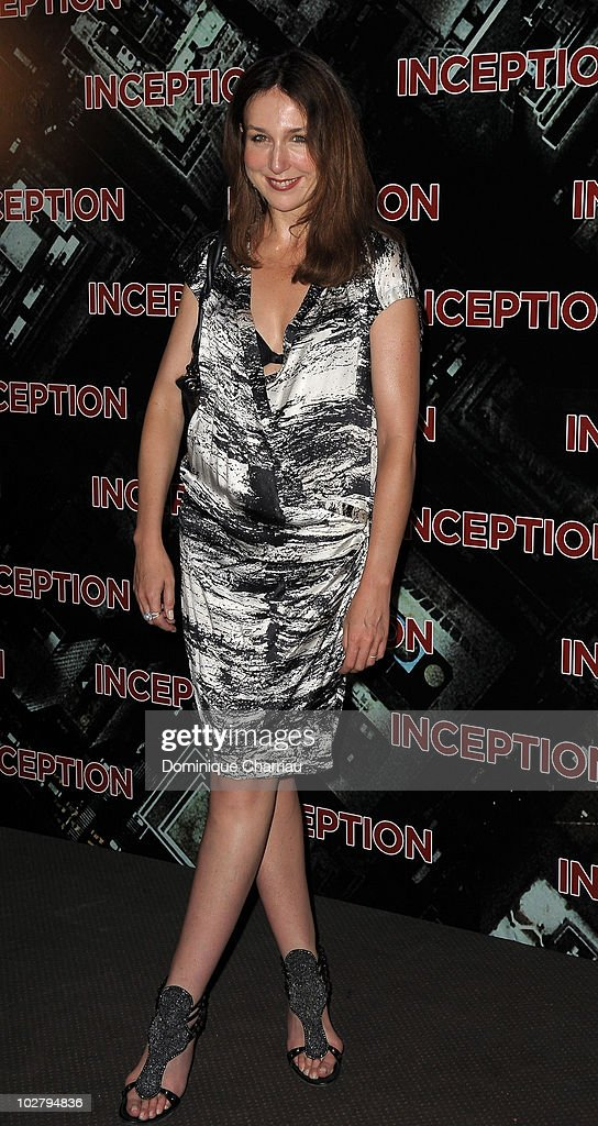 Actress Elsa Zylberstein attends the Paris Premiere for the film 'Inception' at Gaumont Champs Elysees on July 10 2010 in Paris France