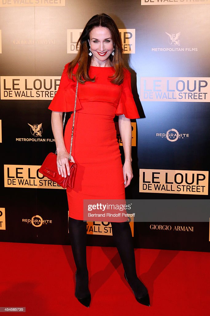 Actress <a gi-track='captionPersonalityLinkClicked' href=/galleries/search?phrase=Elsa+Zylberstein&family=editorial&specificpeople=213054 ng-click='$event.stopPropagation()'>Elsa Zylberstein</a> attends the photocall before the party for 'The Wolf of Wall Street' World Premiere. Held at Palais Brogniart on December 9, 2013 in Paris, France.