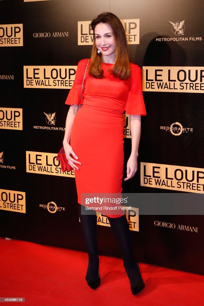 Actress Elsa Zylberstein attends the photocall before the 'The Wolf of Wall Street' World movie Premiere at Cinema Gaumont Opera on December 9 2013...
