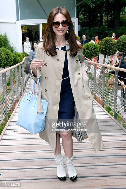 Actress Elsa Zylberstein attends the Roland Garros French Tennis Open 2014 Day 3 on May 27 2014 in Paris France