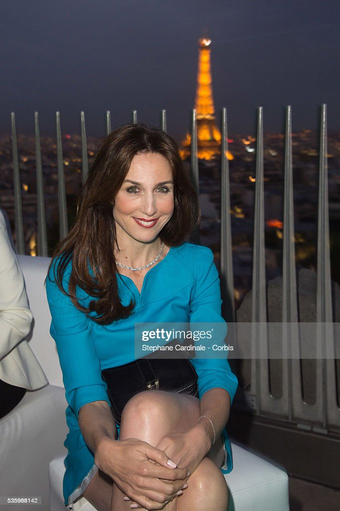 Actress Elsa Zylberstein attends the Tiffany & Co party at the Arc de Triomphe on June 10, 2014 in Paris, France.