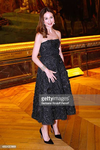 Actress Elsa Zylberstein dressed in Dior attends PasteurWeizmann Gala at at Chateau de Versailles on November 18 2013 in Versailles France