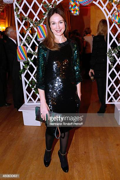 Actress Elsa Zylberstein dressed in Lanvin attends 'Les Puits du Desert' Charity Gala at Cercle des Armees on November 19 2013 in Paris France