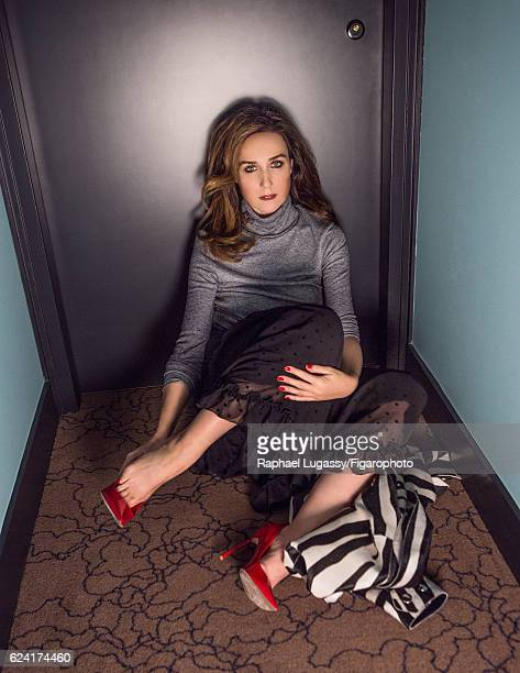 Actress Elsa Zylberstein is photographed for Madame Figaro on October 13 2016 in Paris France Dress shoes jacket PUBLISHED IMAGE CREDIT MUST READ...