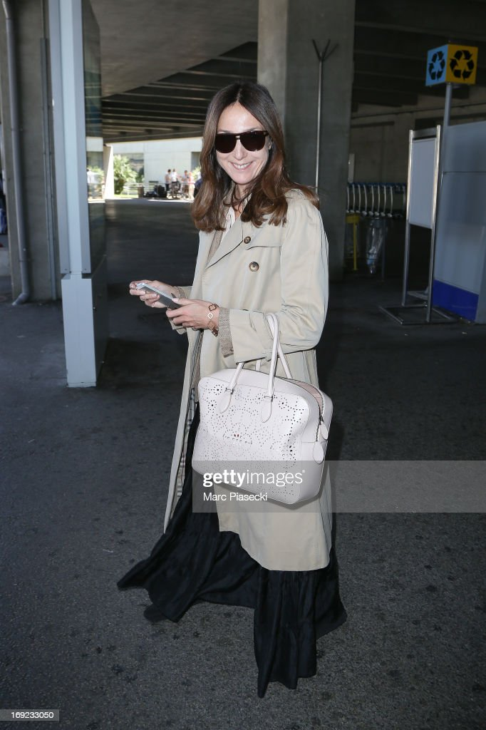 Actress Elsa Zylberstein is seen at Nice airport during the 66th Annual Cannes Film Festival on May 22 2013 in Nice France