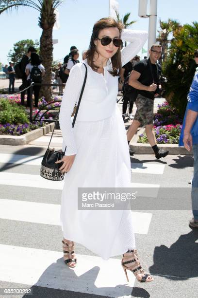Actress Elsa Zylberstein is spotted during the 70th annual Cannes Film Festival at on May 19 2017 in Cannes France