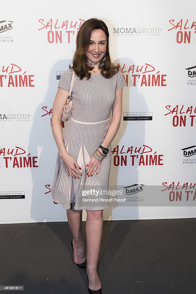 Actress Elsa Zylberstein poses during the premiere of 'Salaud, on t'aime' (Bastard, we love you) directed by French director Claude Lelouch at Cinema UGC Normandie on March 31, 2014 in Paris, France.