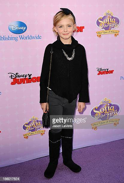 Actress Elsie Fisher attends the premiere of 'Sofia The First Once Upon a Princess' at Walt Disney Studios on November 10 2012 in Burbank California