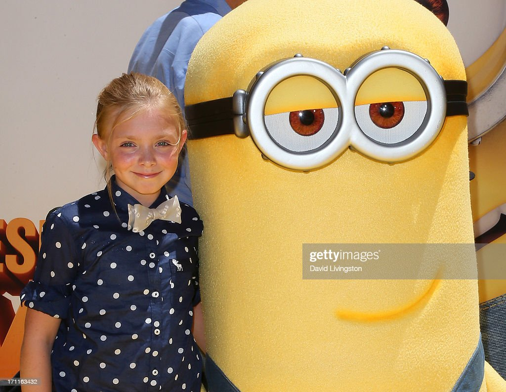 Actress Elsie Fisher attends the premiere of Universal Pictures' 'Despicable Me 2' at the Gibson Amphitheatre on June 22, 2013 in Universal City, California.