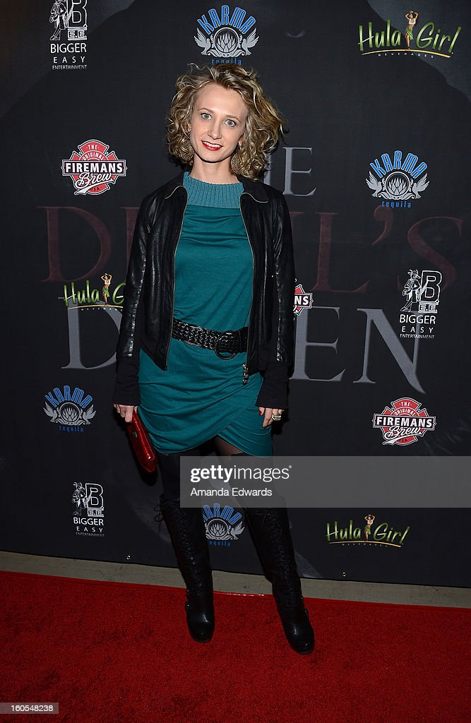 Actress Emanuela Galliussi arrives at the Los Angeles Premiere of 'The Devil's Dozen' at Mann's Chinese 6 Theatres on February 1, 2013 in Hollywood, California.