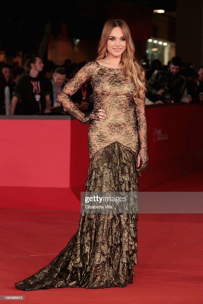 Actress Emanuela Postacchini attends the 'Bullets To The Head' Premiere during the 7th Rome Film Festival at the Auditorium Parco Della Musica on November 14, 2012 in Rome, Italy.