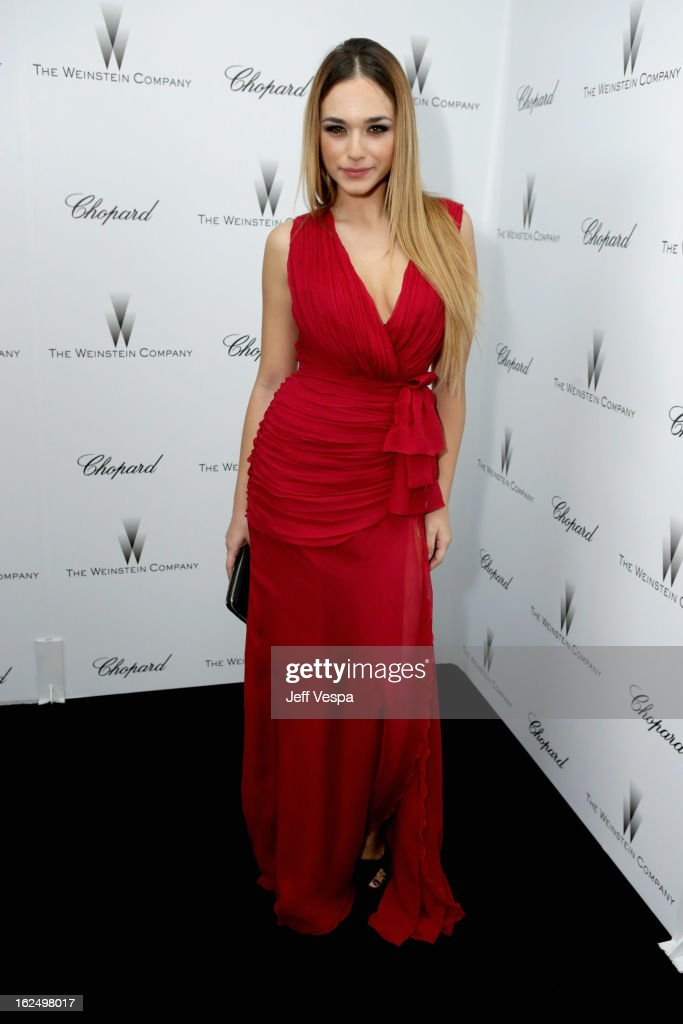 Actress Emanuela Postacchini attends The Weinstein Company Academy Award Party hosted by Chopard at Soho House on February 23, 2013 in West Hollywood, California.