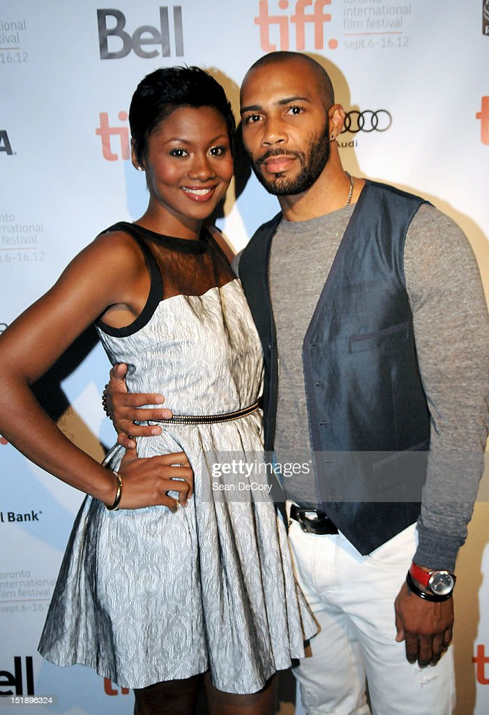 Actress Emayatzy Corinealdi and actor <a gi-track='captionPersonalityLinkClicked' href=/galleries/search?phrase=Omari+Hardwick&family=editorial&specificpeople=4342711 ng-click='$event.stopPropagation()'>Omari Hardwick</a> attend 'Middle Of Nowhere' premiere during the 2012 Toronto International Film Festival at the Scotiabank Theatre on September 12, 2012 in Toronto, Canada.