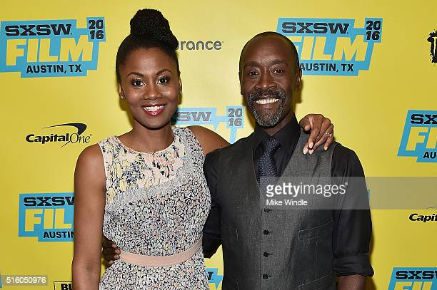 Actress Emayatzy Corinealdi and director Don Cheadle attend the screening of 'Miles Ahead' during the 2016 SXSW Music Film Interactive Festival at...