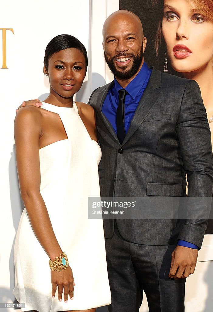 Actress <a gi-track='captionPersonalityLinkClicked' href=/galleries/search?phrase=Emayatzy+Corinealdi&family=editorial&specificpeople=7068358 ng-click='$event.stopPropagation()'>Emayatzy Corinealdi</a> and recording artist Common pose in the Piaget Lounge during The 2013 Film Independent Spirit Awards on February 23, 2013 in Santa Monica, California.