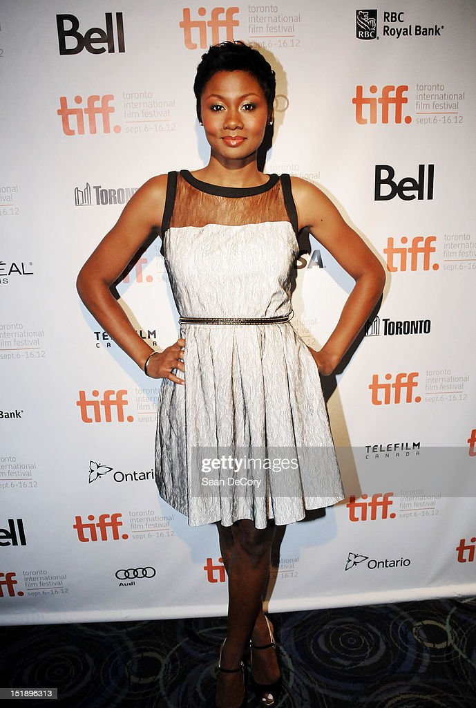 Actress Emayatzy Corinealdi attends 'Middle Of Nowhere' premiere during the 2012 Toronto International Film Festival at the Scotiabank Theatre on September 12, 2012 in Toronto, Canada.