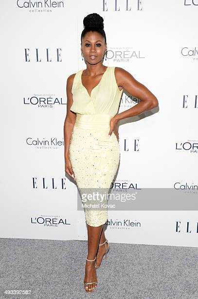 Actress Emayatzy Corinealdi attends the 22nd Annual ELLE Women in Hollywood Awards at Four Seasons Hotel Los Angeles at Beverly Hills on October 19...