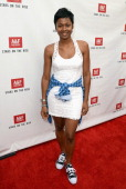 Actress Emayatzy Corinealdi one of Abercrombie Fitch's 2013 Stars on the Rise celebrated this year's back to school campaign on July 11th at The...
