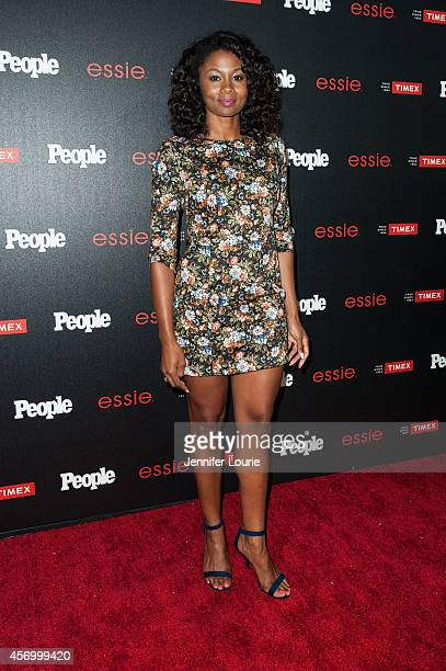 Actress Emayatzy E Corinealdi arrives at the People's 'One To Watch' Event at The Line on October 9 2014 in Los Angeles California