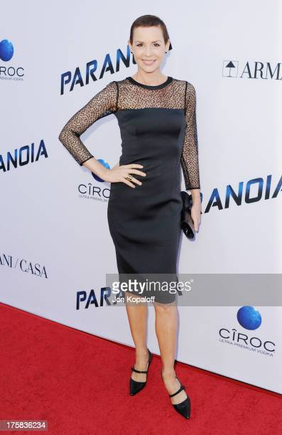 Actress Embeth Davidtz arrives at the Los Angeles Premiere 'Paranoia' at DGA Theater on August 8 2013 in Los Angeles California