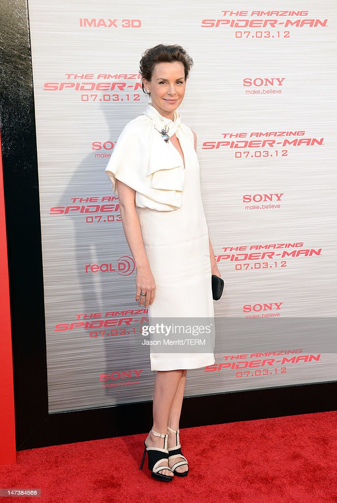 Actress Embeth Davidtz arrives at the premiere of Columbia Pictures' 'The Amazing Spider-Man' at the Regency Village Theatre on June 28, 2012 in Westwood, California.