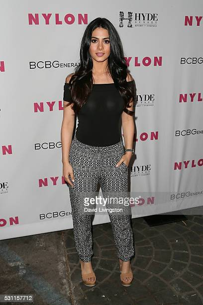 Actress Emeraude Toubia arrives at NYLON and BCBGeneration's Annual Young Hollywood May Issue Event at HYDE Sunset Kitchen Cocktails on May 12 2016...