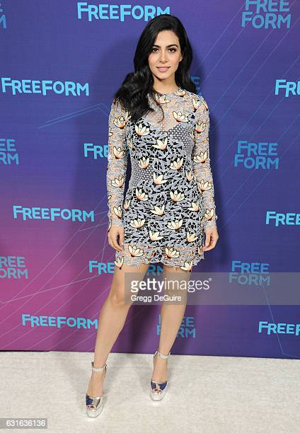 Actress Emeraude Toubia arrives at the 2017 Winter TCA Tour Disney/ABC at the Langham Hotel on January 10 2017 in Pasadena California